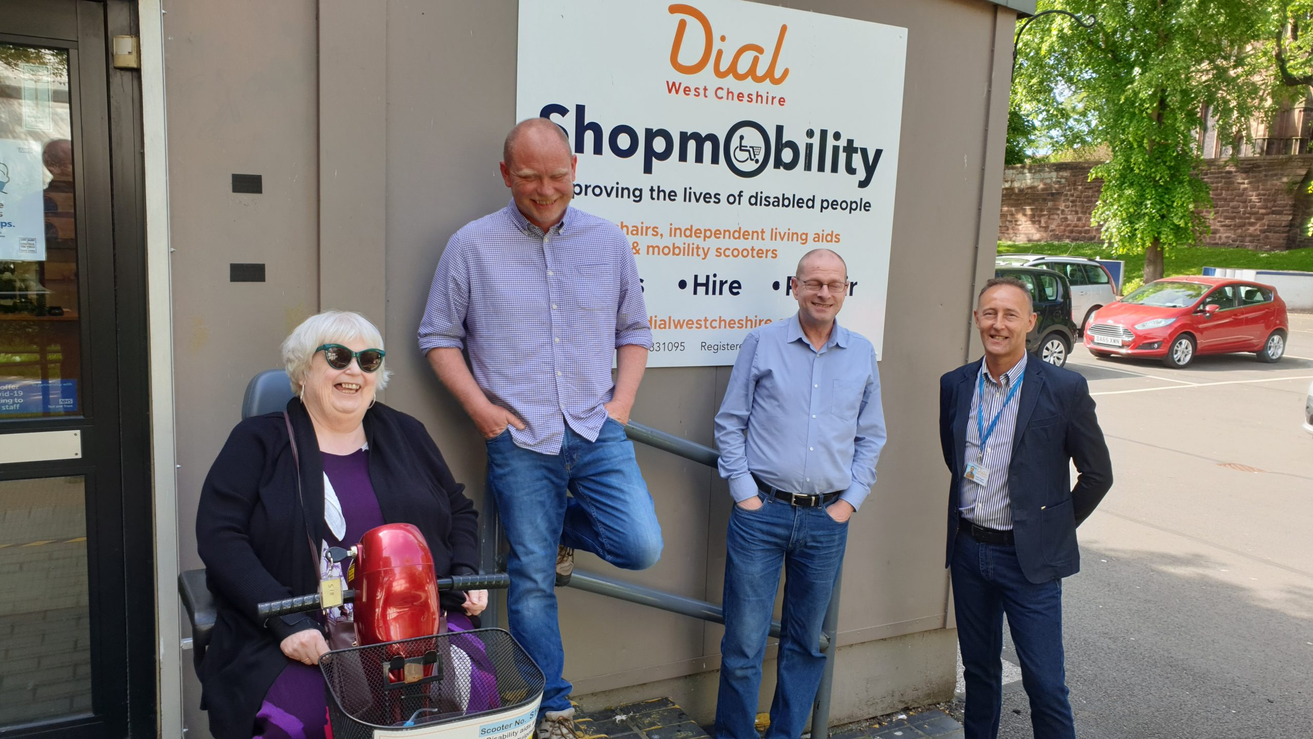 Dial West Cheshire supports new direction for ShopMobility UK with visit from national charity CEO.